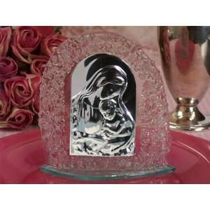 Wedding Favors Murano art deco pink pebble arch design glass icon (Set