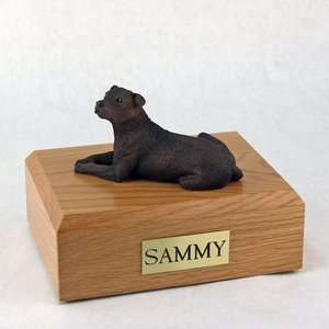 Dog, Staffordshire Bull Terrier   Figurine Pet Cremation Urn   Free
