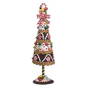 Candy Cake Glitter Topiary Tree Christmas Table Top Decoration Home