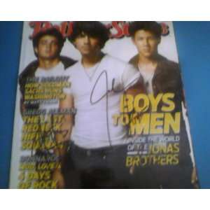 Rolling Stone Magazine Mag Hand Signed By The Jonas Brothers (All 3