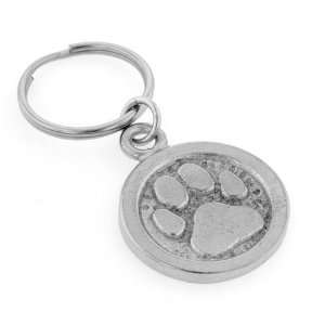 Pewter Dog Paw Print Key Ring with Presentation Box. Made