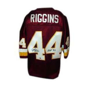 John Riggins Autographed Custom Jersey with HOF 92
