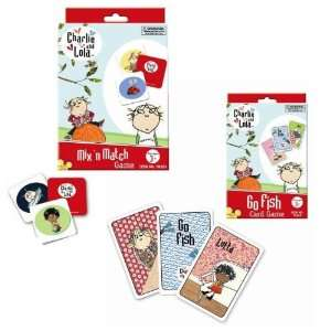 Charlie and Lola Mixn Match Game & Go Fish Cards (Set of 2 Games