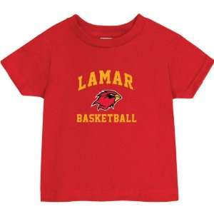 Lamar Cardinals Red Baby Basketball Arch T Shirt Sports