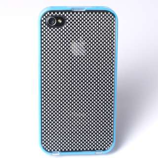 BABY BLUE iPhone 4 Case With Removable Checkered Back