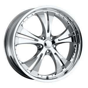 16 inch Vision Shockwave Chrome Wheels Rims 5x110 +42
