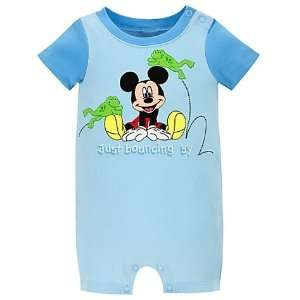 Disney Baby Organic Cotton Mickey Mouse Tiny Tee Coverall for Boys