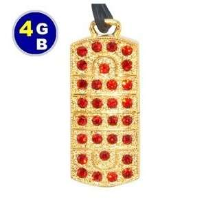 4GB Luxury Crystal Jewelry Flash Drive (Yellow