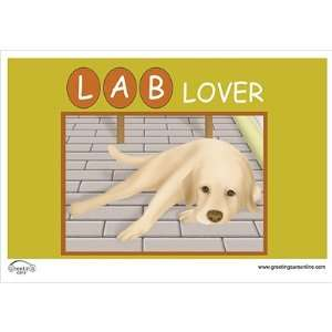 Greeting Cars Yellow Lab Dog Lover Car Magnet Automotive