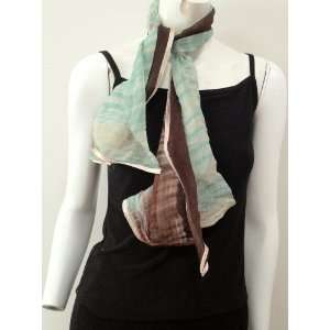 Hand Dyed 2 Toned Tie and Dye High Quality, Small Scarf Neck Wear Wrap