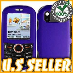 RUBBER PURPLE HARD SNAP ON CASE COVER FOR SAMSUNG INTENSITY U450