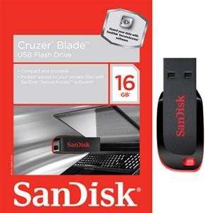 SanDisk, 16GB Cruzer Blade USB flash (Catalog Category