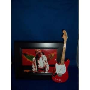 NIRVANA KURT COBAIN Red Guitar Picture Frame Everything
