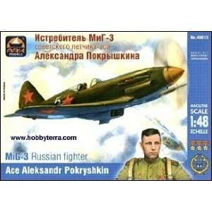 MiG 3 WWII Russian Fighter (Ace Pilot A. Pokryshkin) 1 48