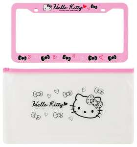 NEW SANRIO HELLO KITTY PINK CAR VEHICLE LICENSE PLATE FRAME