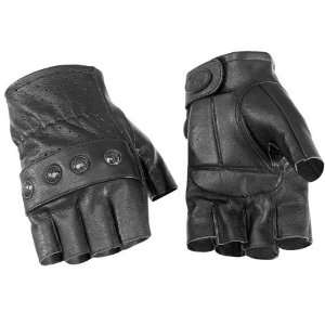 River Road Carlsbad Fingerless Leather Gloves L 4 Cruiser