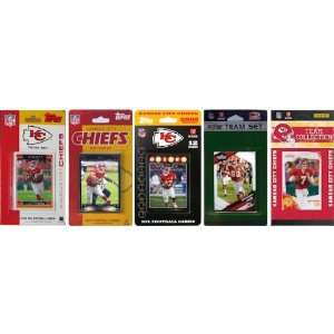 NFL Kansas City Chiefs 5 Different Licensed Trading Card Team Sets
