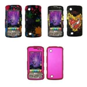Case Covers (Paint Splatter, Black Love Tattoo, Hot Pink) Electronics