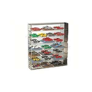 21 Diecast Car Wall Mountable Display Case w/Mirrored Back