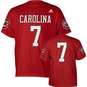 South Carolina Gamecocks Cardinal adidas #7 Football Jersey T Shirt