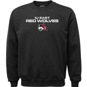 IU East Red Wolves Black Youth Legend Crewneck Sweatshirt
