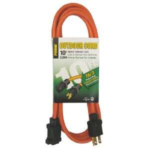 10 Foot 16/3 SJTW Medium Duty Extension Cord, Orange