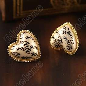Retro Vintage Fashion Hearts LOVE Letter Cute Mini Earrings 5191