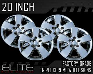 exact match to the chrome wheel skin covers in the listing picture for