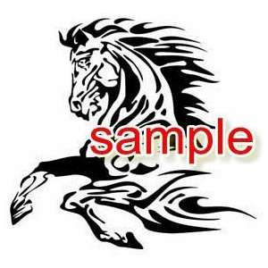 HORSE IN MOTION WHITE VINYL DECAL STICKER
