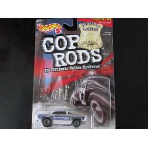 55 Chevy Boston, Massachusettes Police Car Hot Wheels 1999 Cop Rods