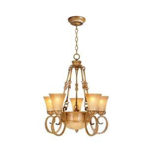 Hampton Bay Florentina 6 Light Amandale Chandelier 718212230213