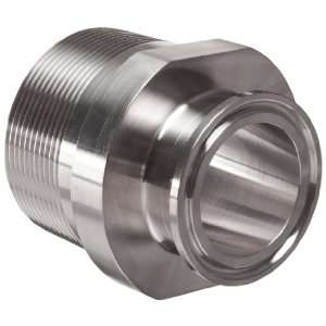 Parker Sanitary Tube Fitting, Stainless Steel 304, Adapter, 1 1/2