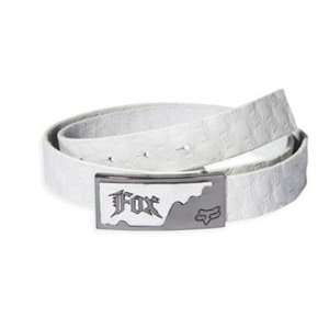 Fox Racing Network Leather Belt   White   57926 008