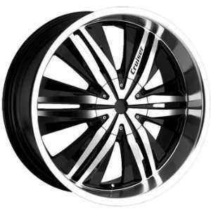 Cruiser Alloy Threshold 20x9 Black Wheel / Rim 6x5.5 with