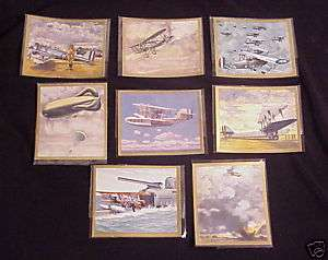 WWII lot GERMAN cigarette card Aircraft gold edge mint