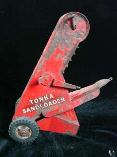 Vintage Tonka Toys Red Dump Truck Sand Loader Children Red Blue Old