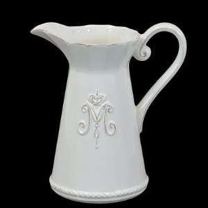 Urban Trends 70335 9 White Ceramic Pitcher