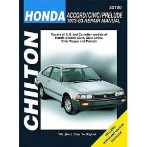 Honda Accord, Civic & Prelude Chilton Repair Manual (1973