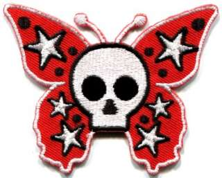 horror goth emo punk biker applique iron on patch new S 182