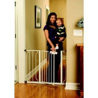 Regalo Extra Tall Top of Stair Gate, White Baby