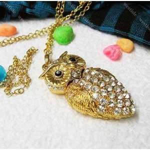 High Quality 16 GB Owl Crystal Jewelry USB Flash Memory