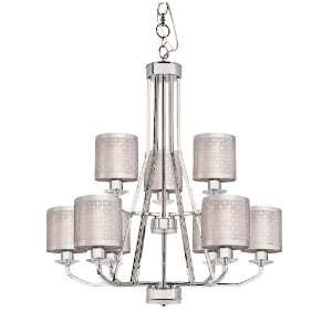 Collection Polished Chrome Finish 9 Lt Chandelier 2 Tier Laser Cu