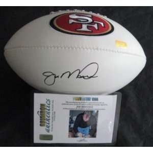 Joe Montana Autographed Football   White GA Signing