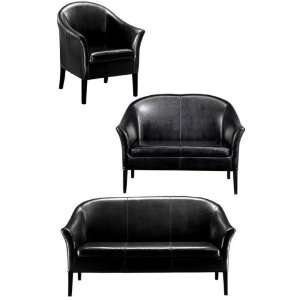 Leather Monte Carlo Three piece Seating Set