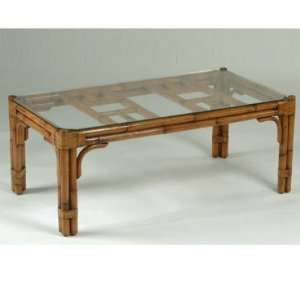 Craft M633928 Maui Coffee Table with Glass Top M633928