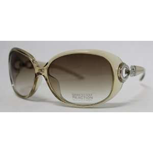 Kenneth Cole Reaction Sunglass Light Brown Rectangle Fashion Plastic