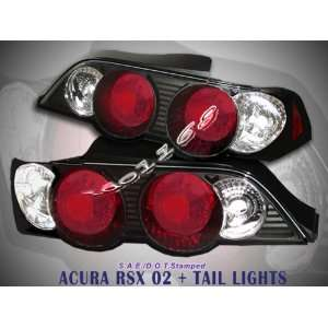 Acura RSX Tail Lights JDM Black Altezza Taillights 2002 2003 2004 02