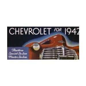 1942 CHEVROLET Sales Brochure Literature Book Piece Automotive