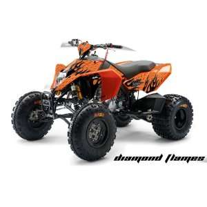 AMR Racing KTM 450, 525 and 505 ATV Quad, Graphic Kit   Diamond Flames