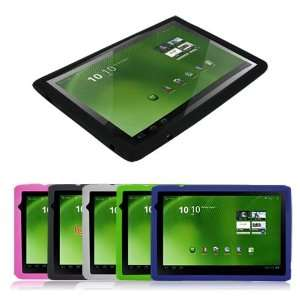Black/Blue/Clear/Green/Pink Silicone Skin Case for Acer Iconia tab